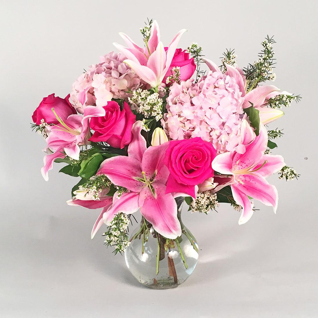 Precious Pinks Morning Glory Flower Shop